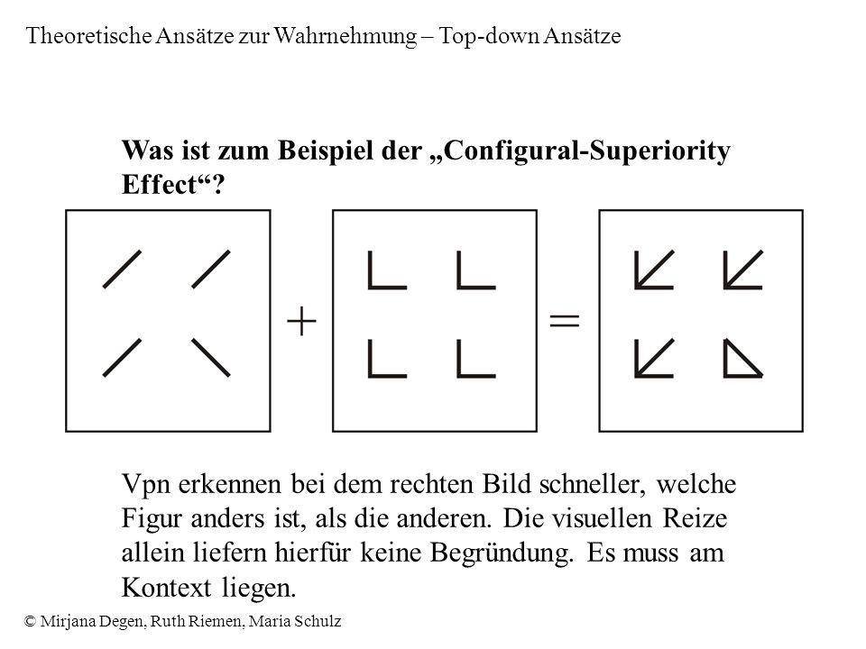 """Was ist zum Beispiel der """"Configural-Superiority Effect"""
