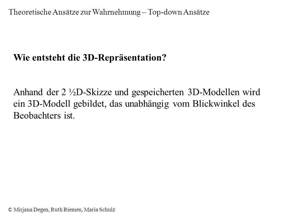 Wie entsteht die 3D-Repräsentation