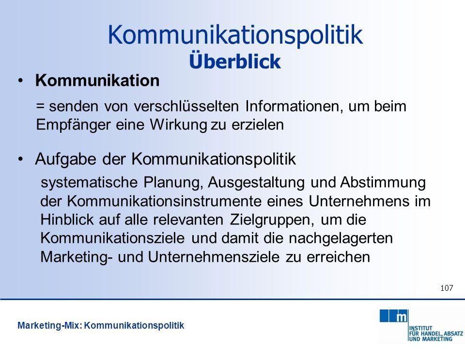 Kommunikationspolitik Überblick