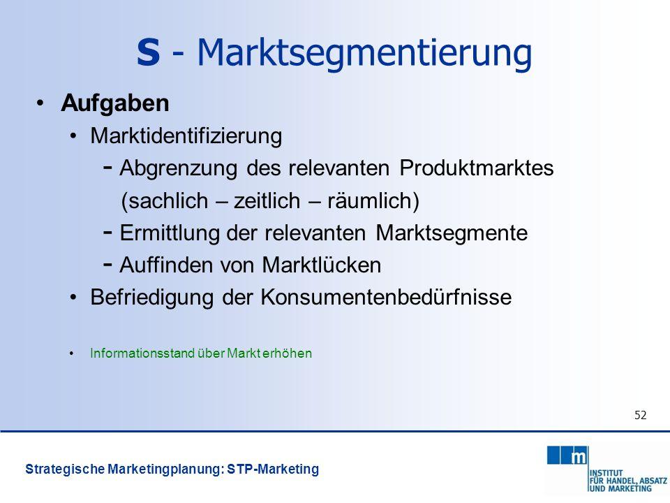 S - Marktsegmentierung