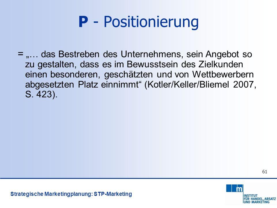 P - Positionierung