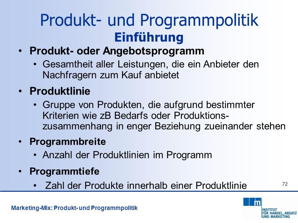 Produkt- und Programmpolitik Einführung