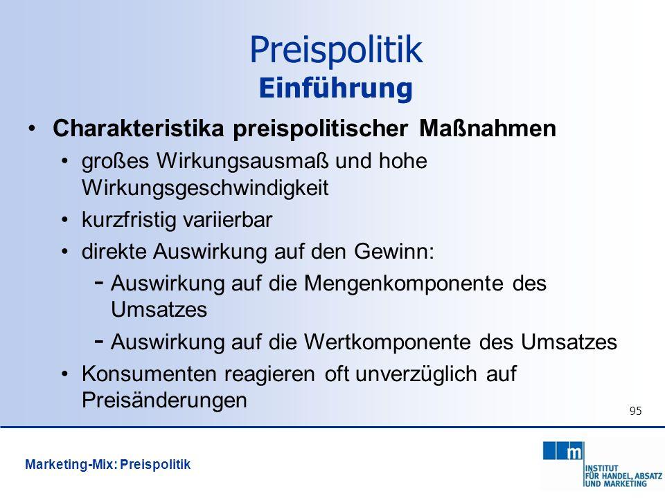 Preispolitik Einführung