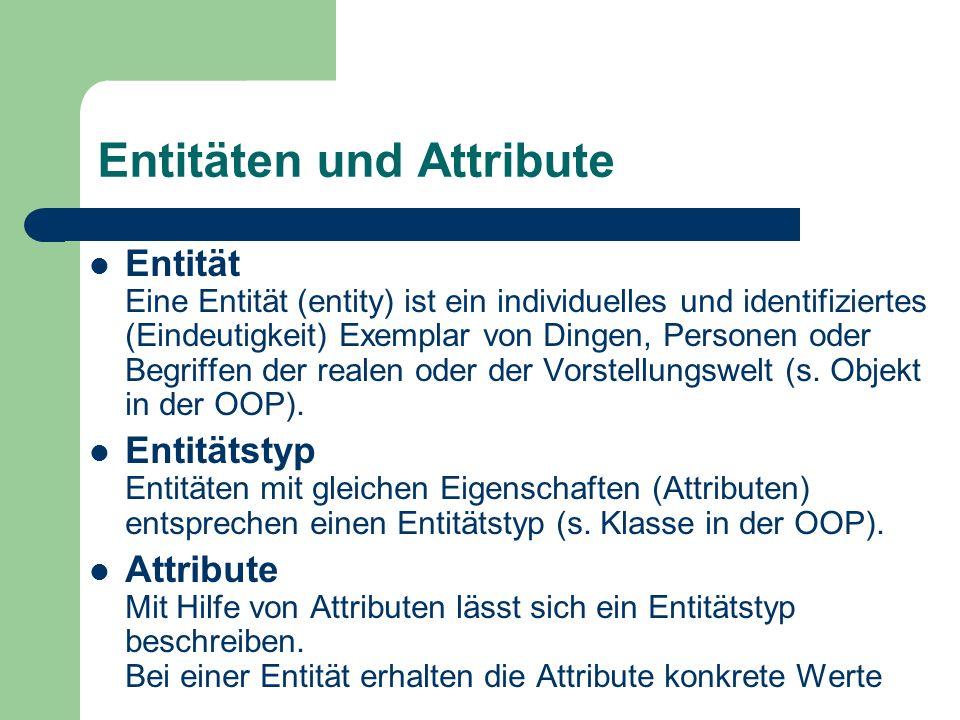 Entitäten und Attribute