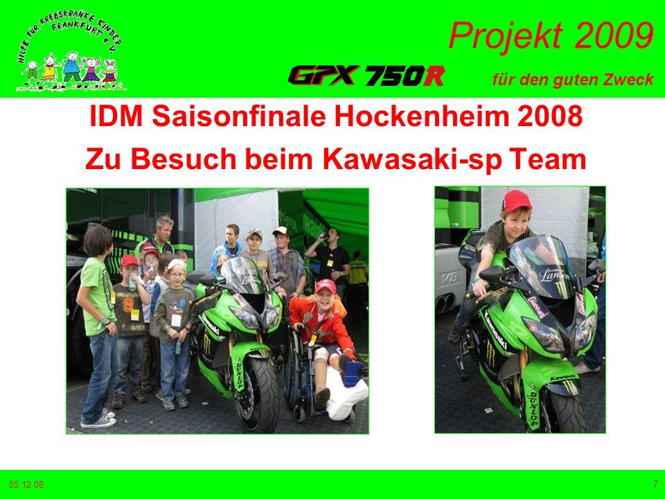 IDM Saisonfinale Hockenheim 2008 Zu Besuch beim Kawasaki-sp Team