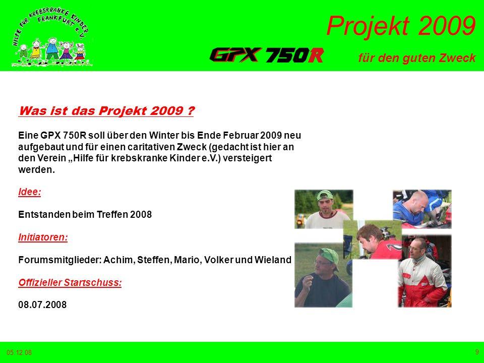 Was ist das Projekt 2009
