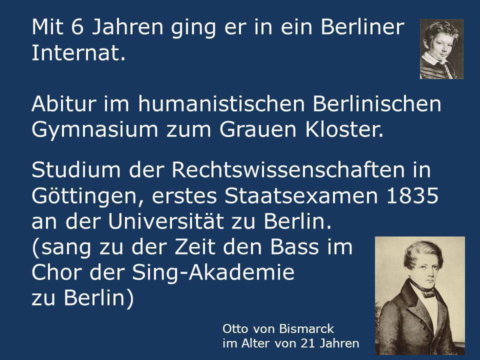 (sang zu der Zeit den Bass im Chor der Sing-Akademie zu Berlin)
