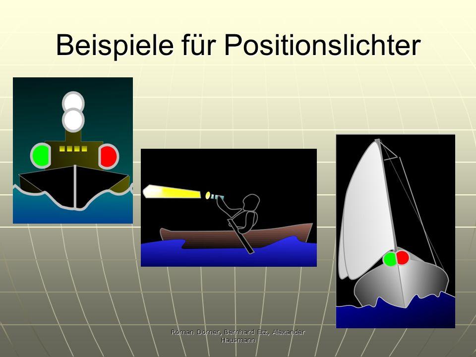 Beispiele für Positionslichter
