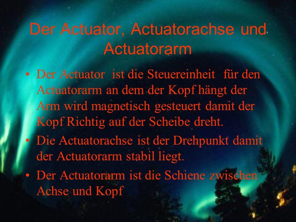 Der Actuator, Actuatorachse und Actuatorarm