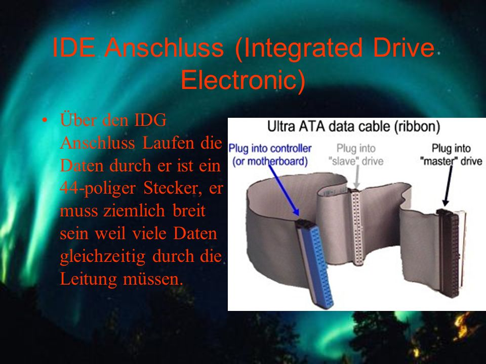IDE Anschluss (Integrated Drive Electronic)