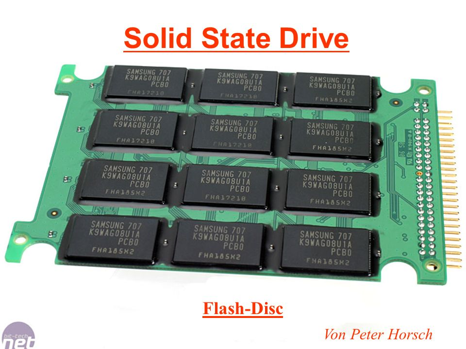 Solid State Drive Flash-Disc Von Peter Horsch