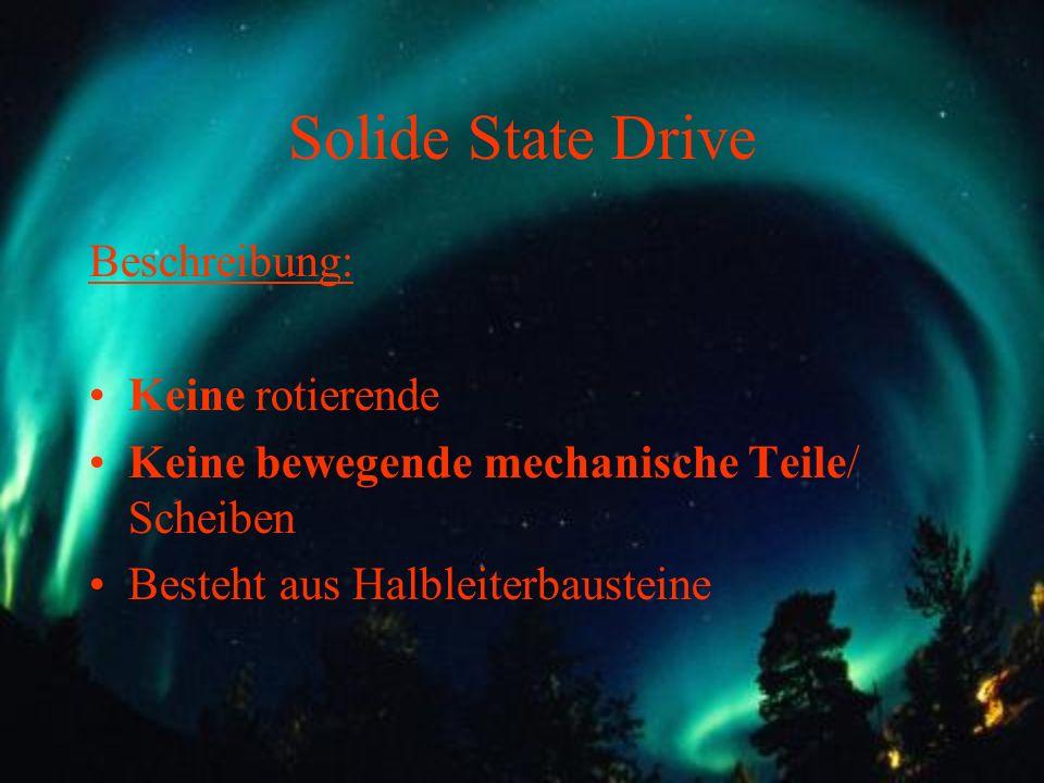Solide State Drive Beschreibung: Keine rotierende