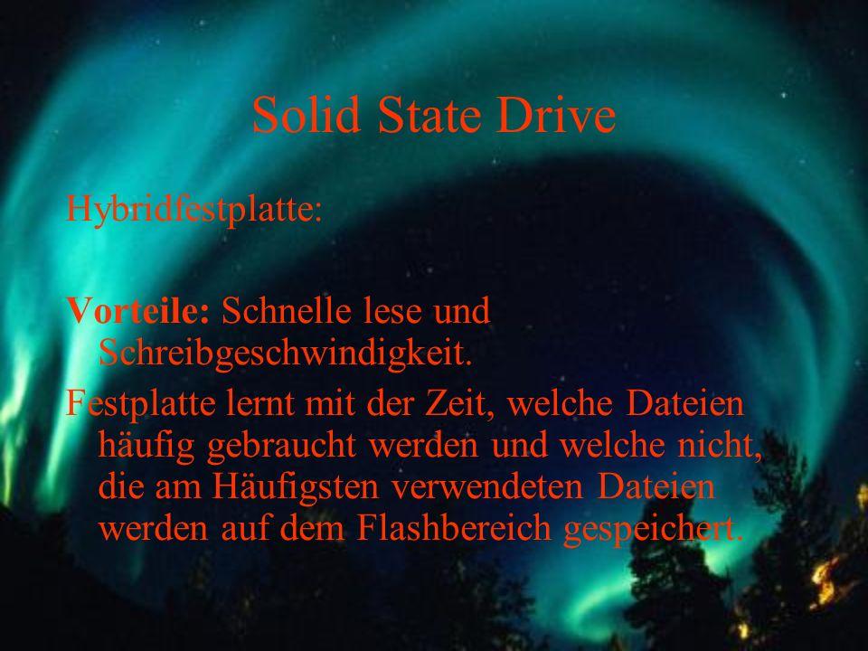 Solid State Drive Hybridfestplatte: