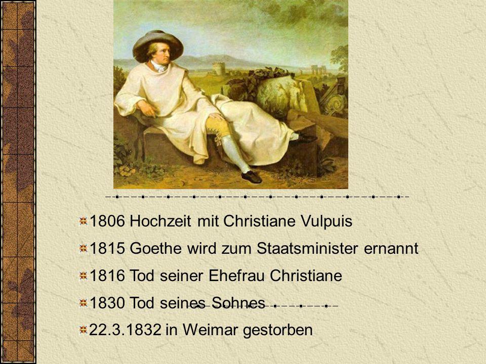 1806 Hochzeit mit Christiane Vulpuis