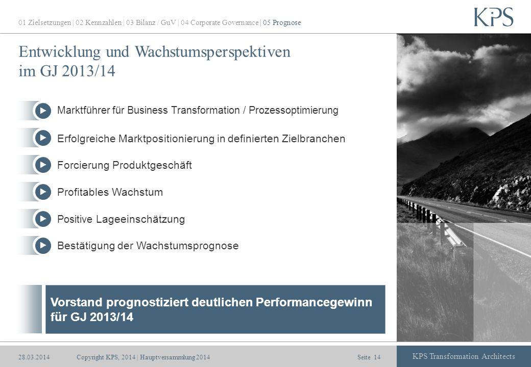 Entwicklung und Wachstumsperspektiven im GJ 2013/14
