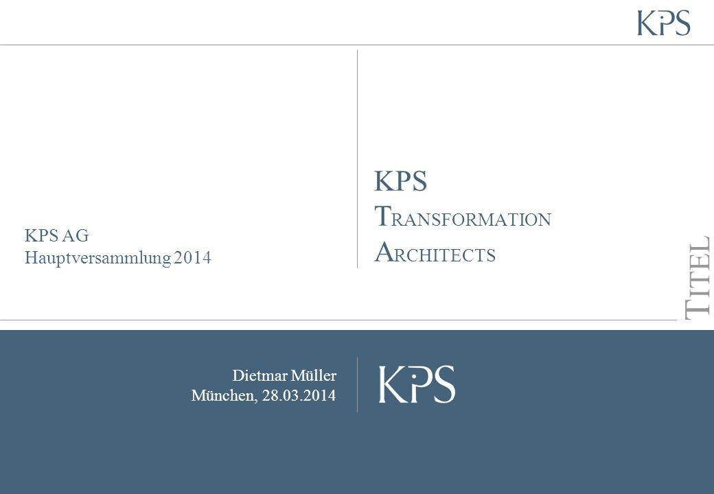 KPS AG Hauptversammlung 2014