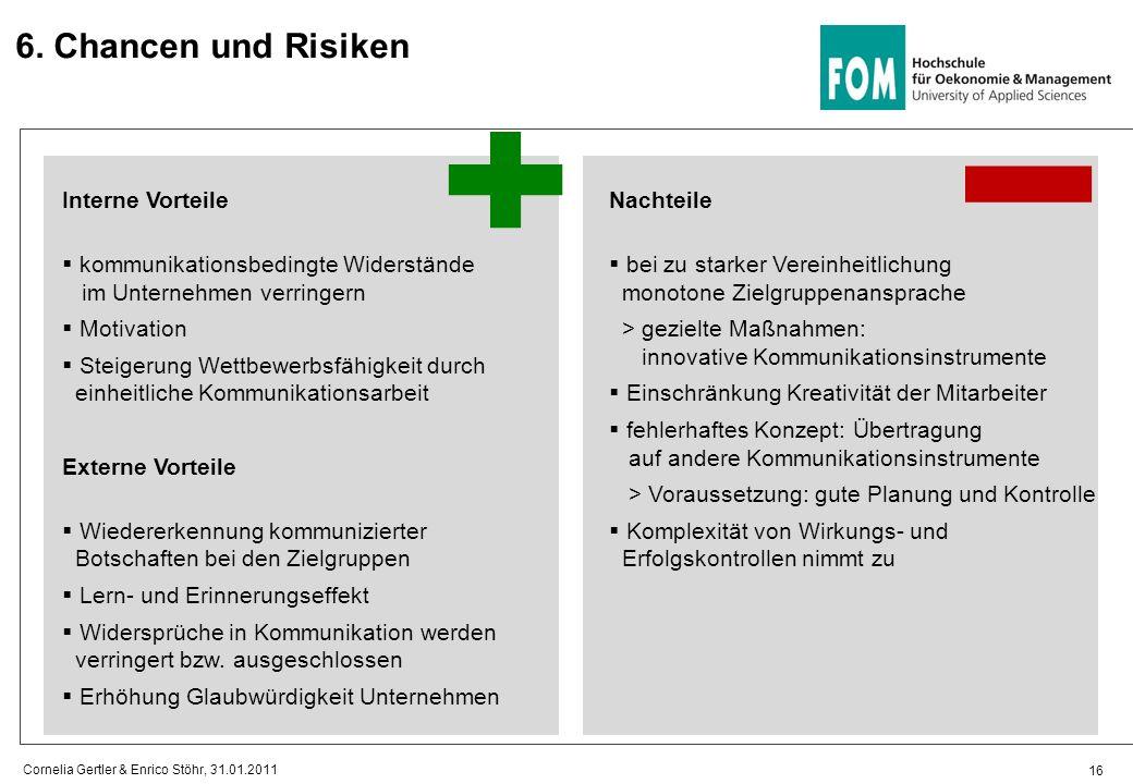 6. Chancen und Risiken Interne Vorteile