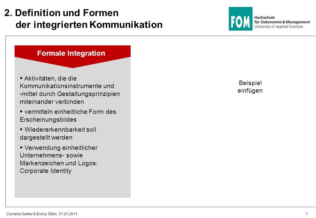 2. Definition und Formen der integrierten Kommunikation