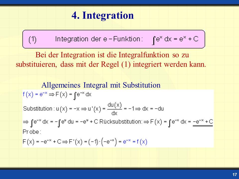 Allgemeines Integral mit Substitution