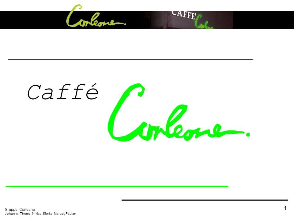 Caffé Gruppe: Corleone Johanna, Theres, Niklas, Sönke, Marcel, Fabian