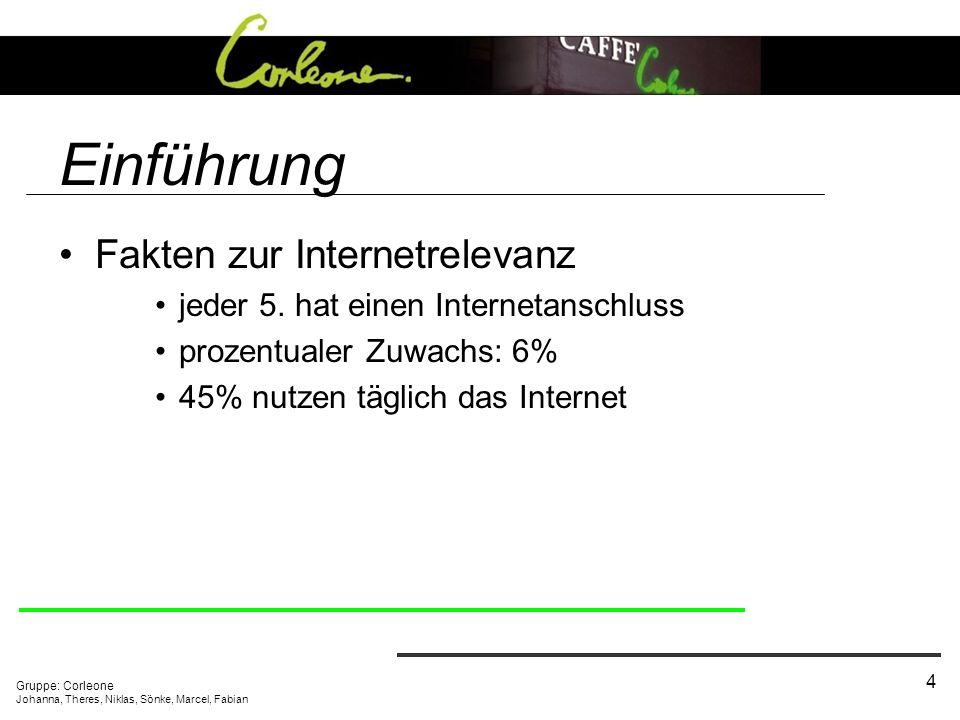 Einführung Fakten zur Internetrelevanz