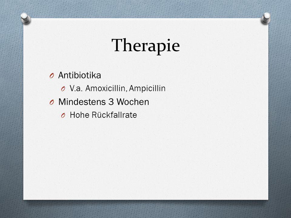 Therapie Antibiotika Mindestens 3 Wochen V.a. Amoxicillin, Ampicillin
