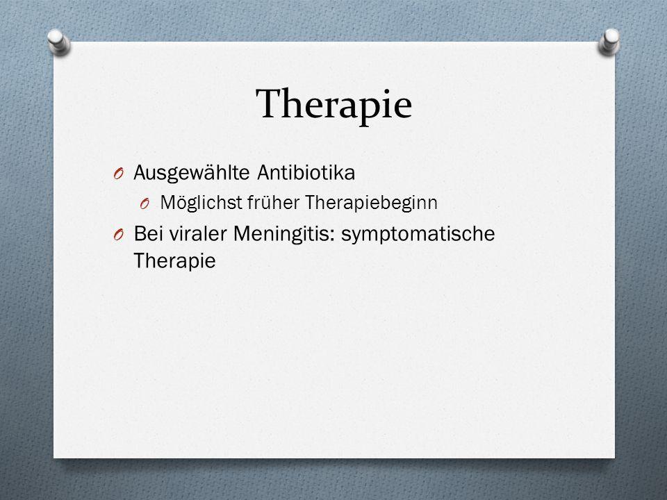 Therapie Ausgewählte Antibiotika