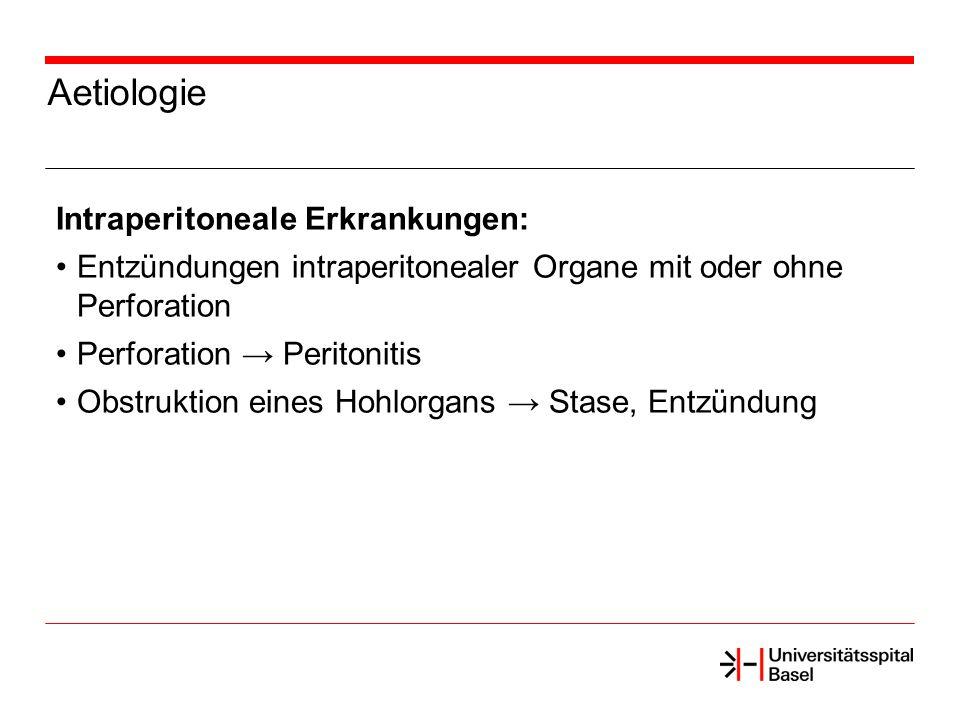Aetiologie Intraperitoneale Erkrankungen: