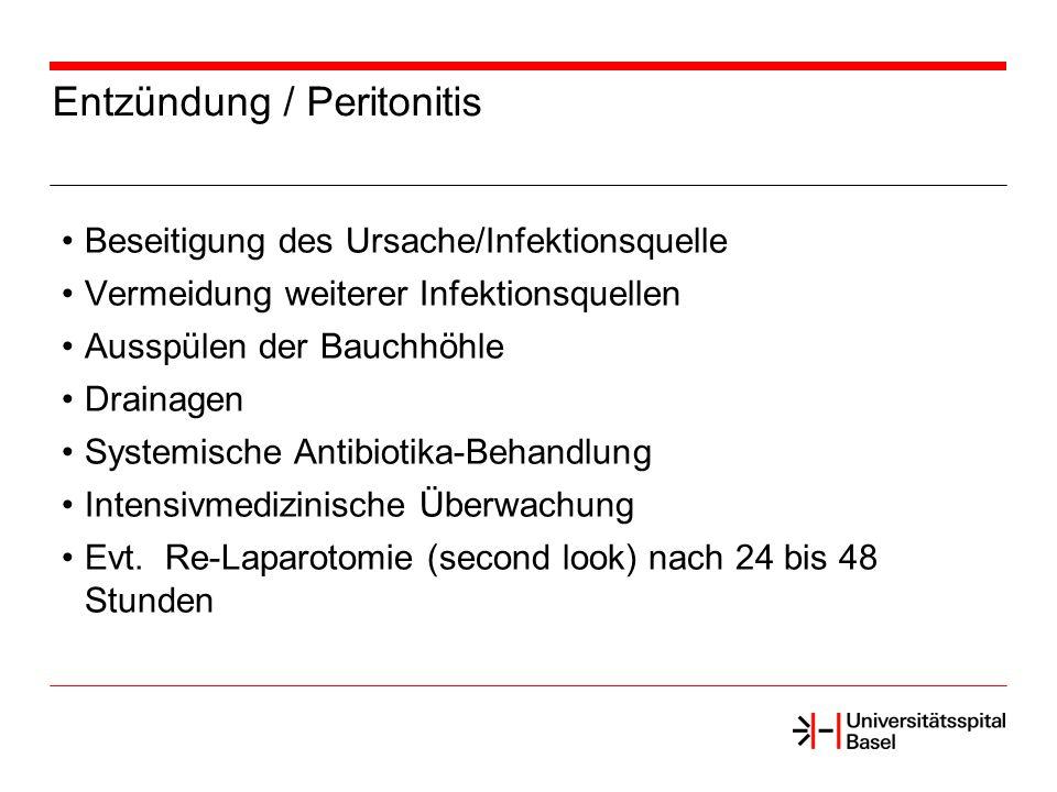Entzündung / Peritonitis