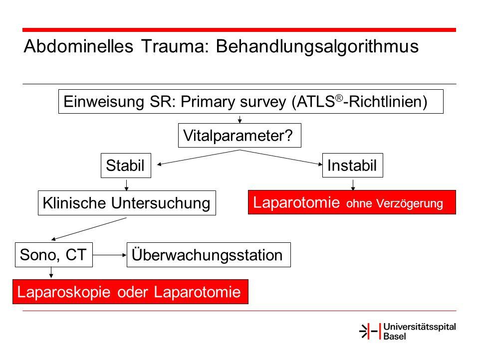 Abdominelles Trauma: Behandlungsalgorithmus