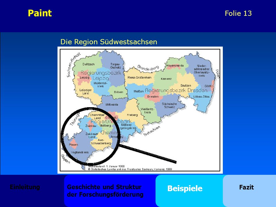Paint Beispiele Die Region Südwestsachsen Einleitung
