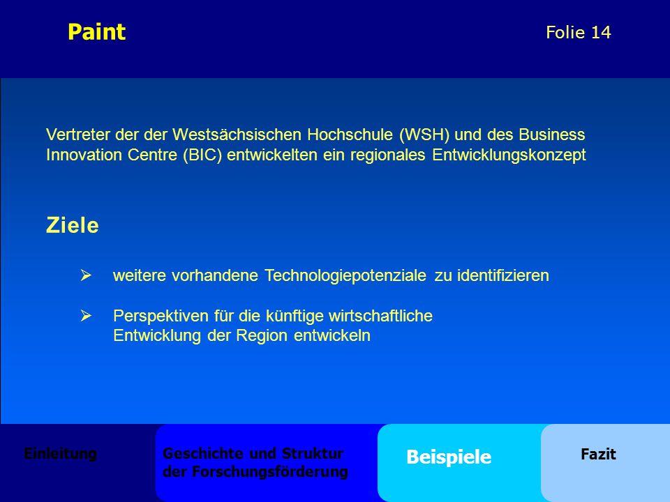 Paint Vertreter der der Westsächsischen Hochschule (WSH) und des Business. Innovation Centre (BIC) entwickelten ein regionales Entwicklungskonzept.