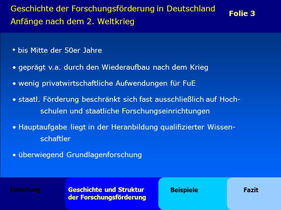 Geschichte der Forschungsförderung in Deutschland Anfänge nach dem 2