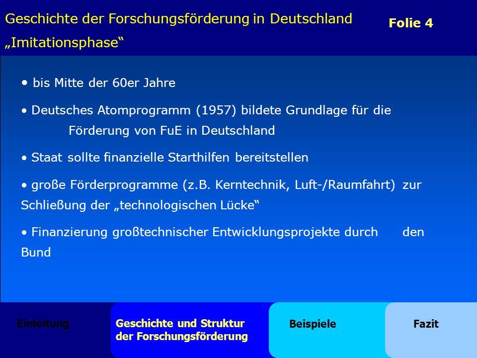 """Geschichte der Forschungsförderung in Deutschland """"Imitationsphase"""