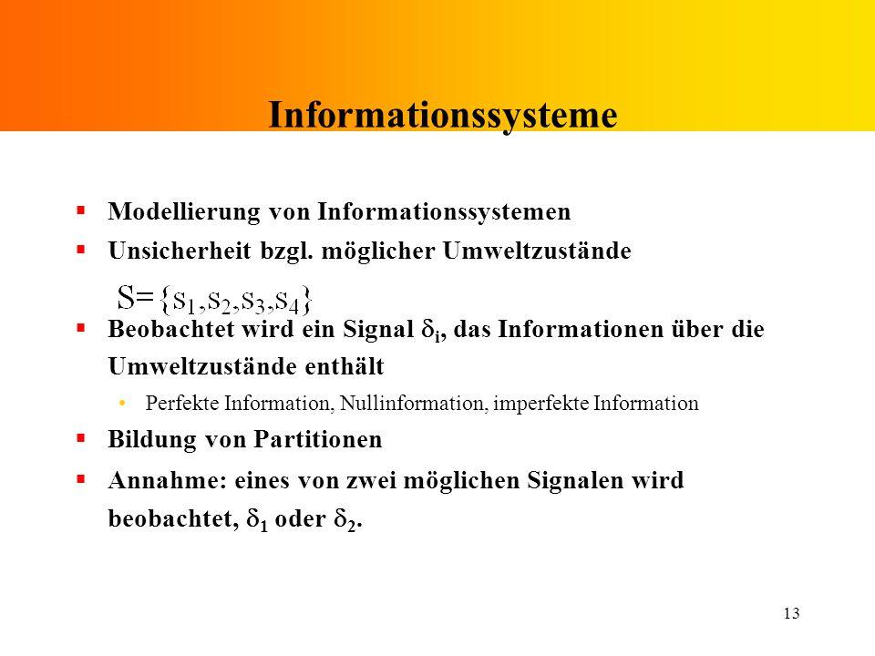 Informationssysteme Modellierung von Informationssystemen