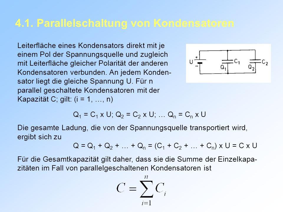 4.1. Parallelschaltung von Kondensatoren