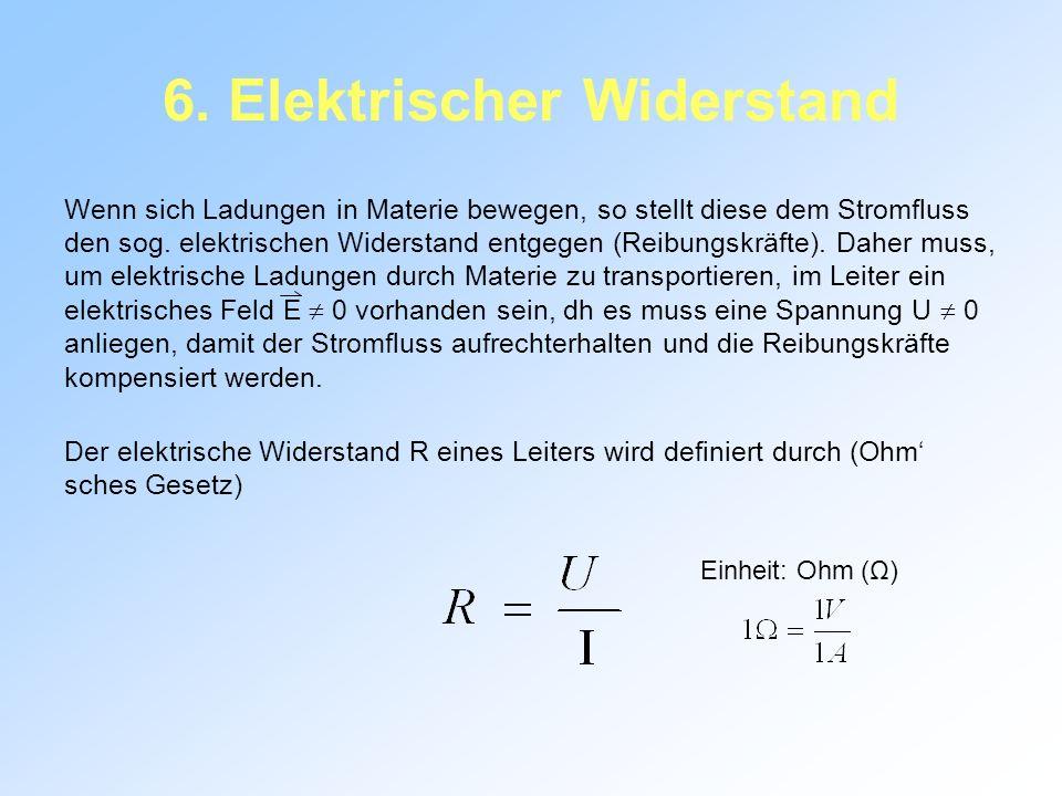 6. Elektrischer Widerstand