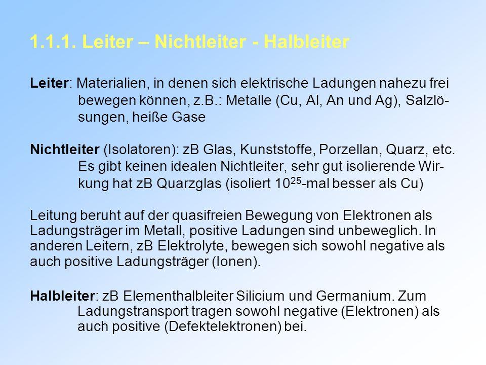 1.1.1. Leiter – Nichtleiter - Halbleiter