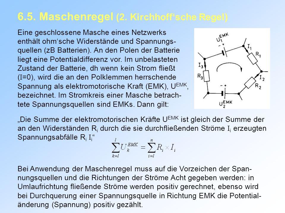 6.5. Maschenregel (2. Kirchhoff'sche Regel)