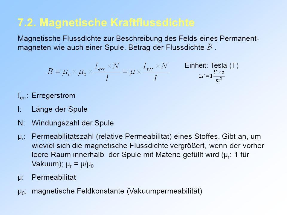 7.2. Magnetische Kraftflussdichte