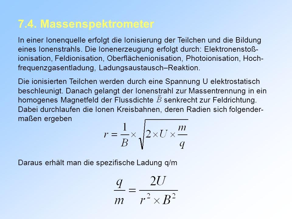 7.4. Massenspektrometer