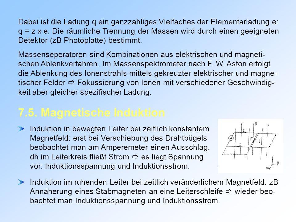 7.5. Magnetische Induktion