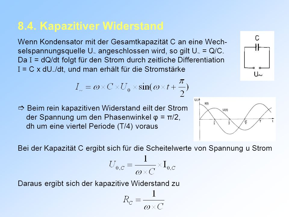 8.4. Kapazitiver Widerstand
