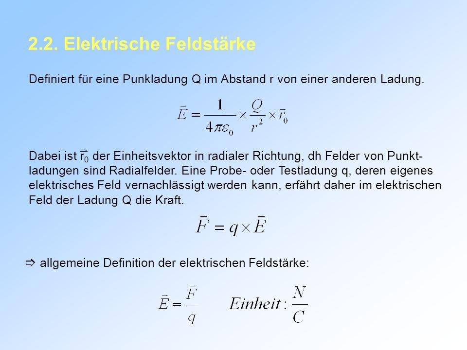 2.2. Elektrische Feldstärke