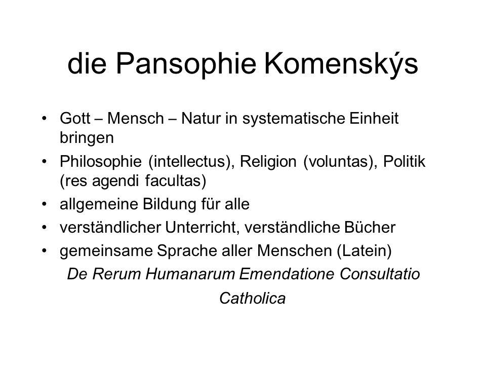 die Pansophie Komenskýs