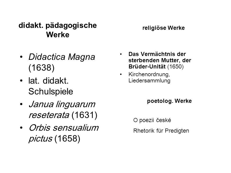 didakt. pädagogische Werke