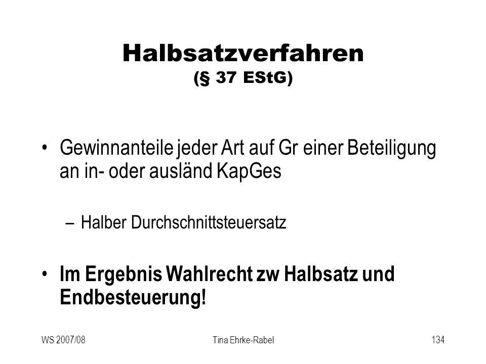 Halbsatzverfahren (§ 37 EStG)