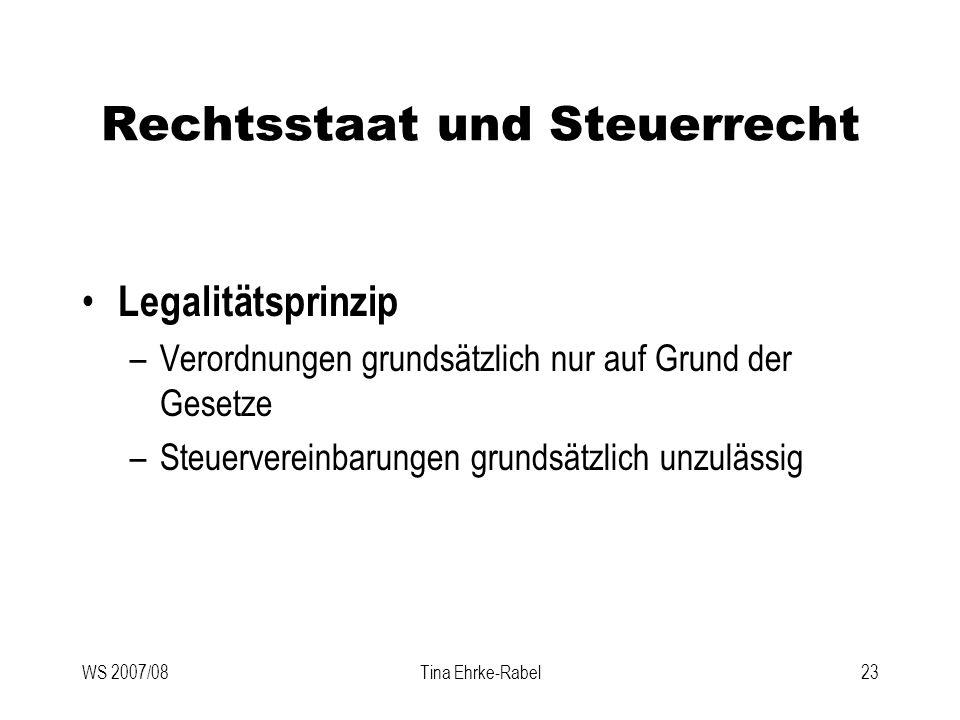 Rechtsstaat und Steuerrecht