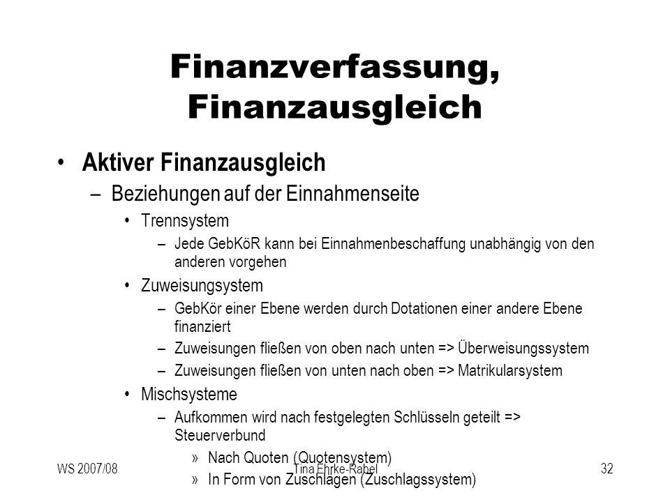 Finanzverfassung, Finanzausgleich