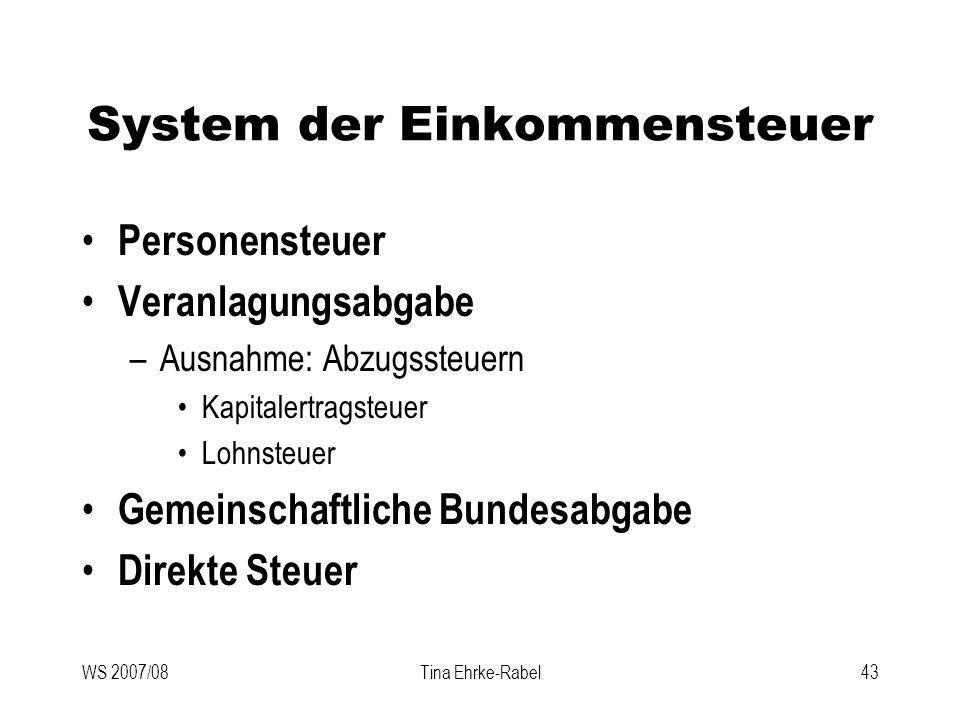 System der Einkommensteuer